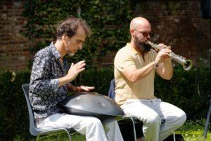 Concert au jardin - Hang et Saxo avec Fred et David